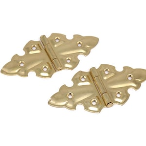 Hinges BUTTERFLY HINGE Sold In Pairs Flush mount hinge Polished Brass Price Is For 2 Hinges