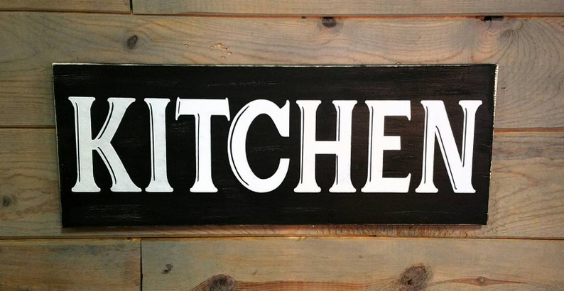 Vintage kitchen sign, antique kitchen accents, gifts for cooks, gifts for  grandma, wood kitchen decor, gifts for mom, kiss the cook, chic
