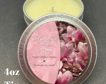 Magnolia & Peony - Soy Candle