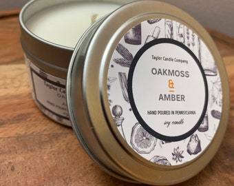 Oakmoss & Amber - Soy Candle
