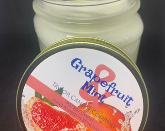 Grapefruit & Mint - Soy Candle