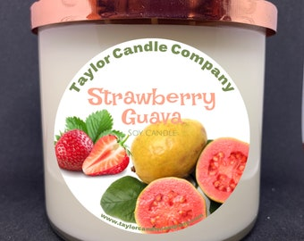 Strawberry & Guava - Soy Candle