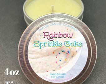 Rainbow Sprinkle Cake- Soy Candle