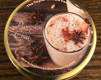 Pumpkin Chai Latte Soy Candle, Pumpkin Chai Candle, Pumpkin Candle