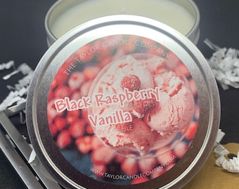 Black Raspberry Vanilla - Soy Candle