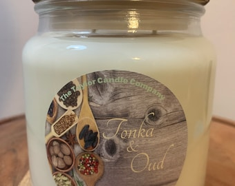 Tonka & Oud - Soy Candle