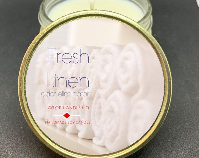Fresh linen odor eliminator - Soy Candle