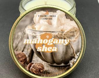 Mahogany & Shea Candle, Soy Candle, Mahogany, Shay, Relaxation