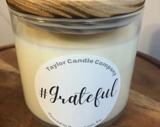 Grateful Soy Candle, citrus candle, lemon candle, lavender candle, #Grateful