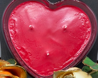 Burning Love Glass Candle, Valentine's Day Gift, Soy Candle, Gift Idea