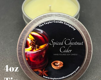Spiced Chestnut Cider - Soy Candle