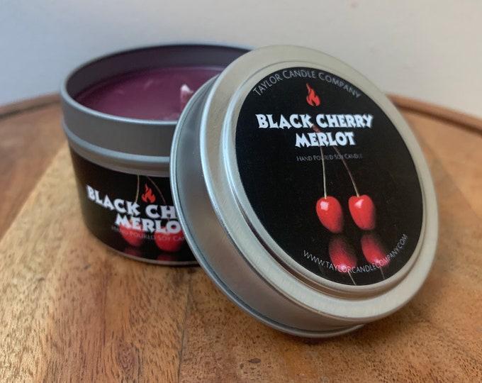 Black Cherry Merlot - Soy Candle