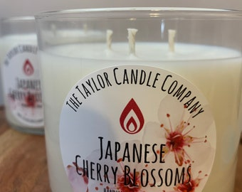 Japanese Cherry Blossom Candle, Soy Candle, Flower Scented Candles