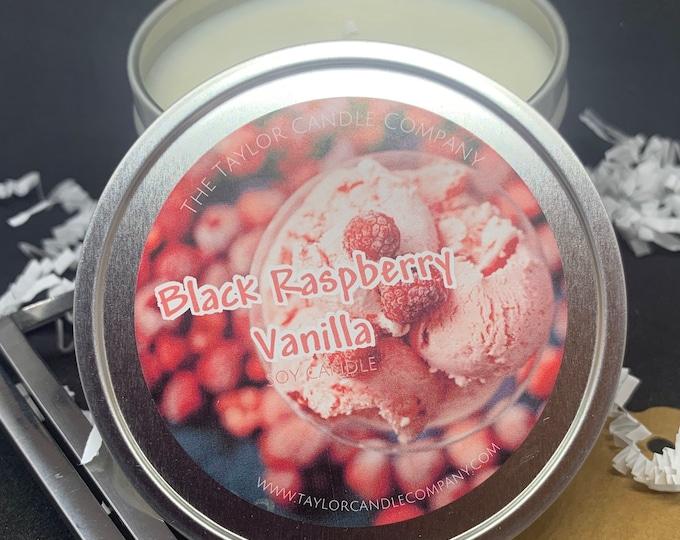 Black Raspberry Vanilla - Soy Candle