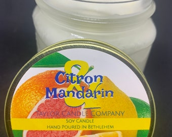 Citron & Mandarin Candle, Soy Candle, Fruity Candle, Citrus Scent, Summer Candle