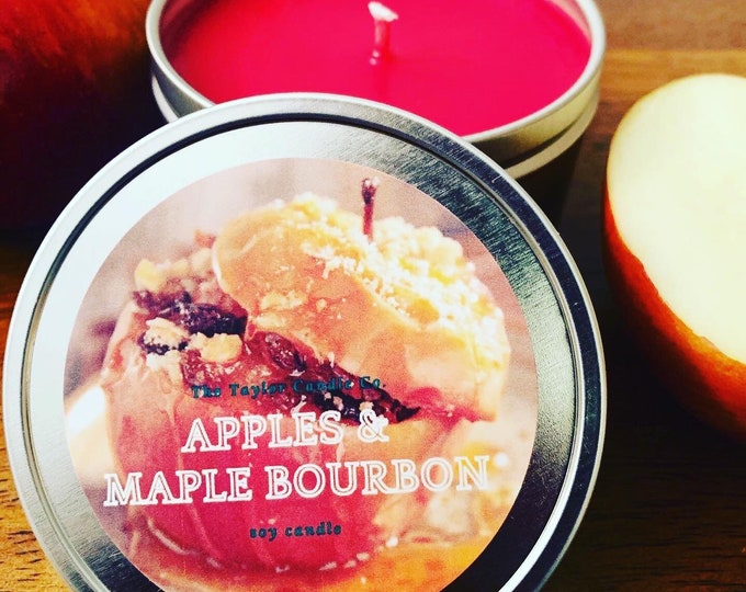 Apples & Maple Bourbon Candle, Soy Candle, Apple Scented Candle