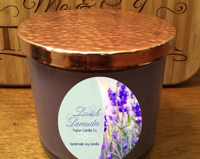 Lavender Scented Candle - Soy Candle