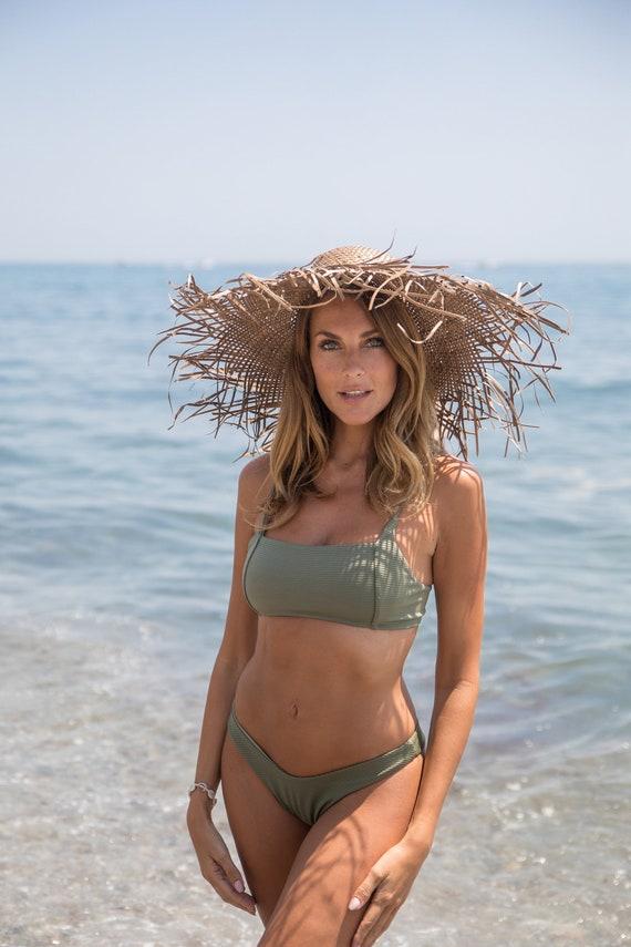 Straw Hat, Frayed Hat, Summer Hat, Deco Hat, Beach