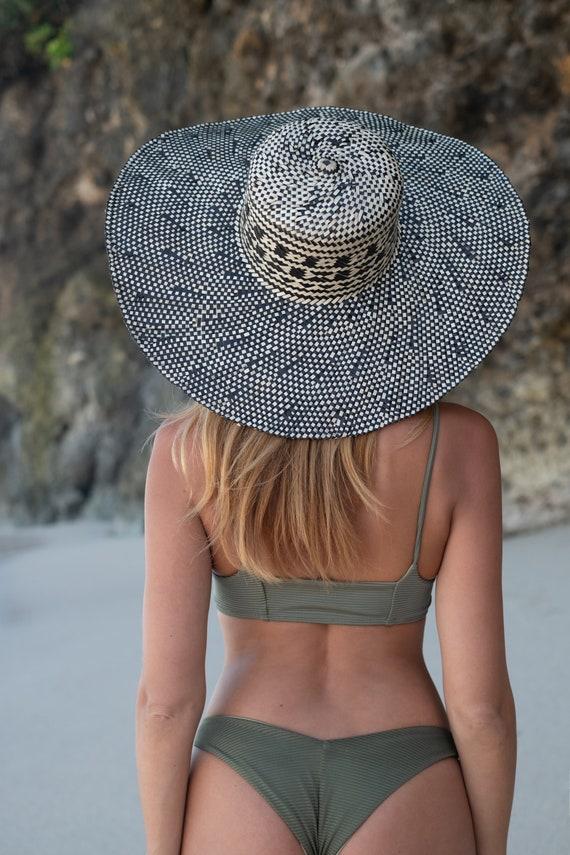 Straw Hat, Elegant straw Hat, Summer Hat, Deco Ha… - image 4