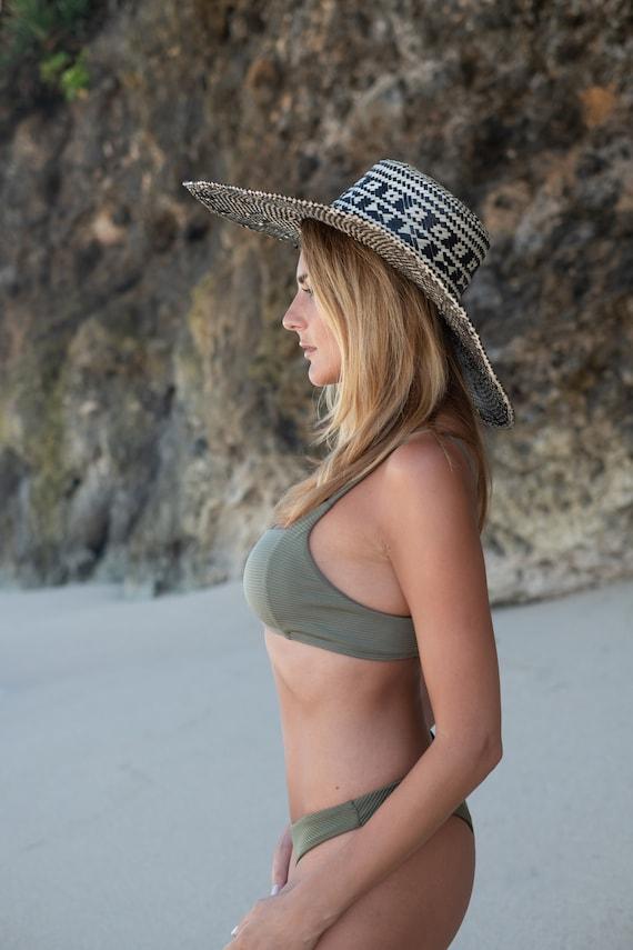 Straw Hat, Elegant straw Hat, Summer Hat, Deco Ha… - image 3
