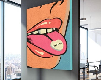 Office decor etsy canvas wall art ineffable pop culture art canvas painting pop art canvasswallowing success motivational art wall decor publicscrutiny Images