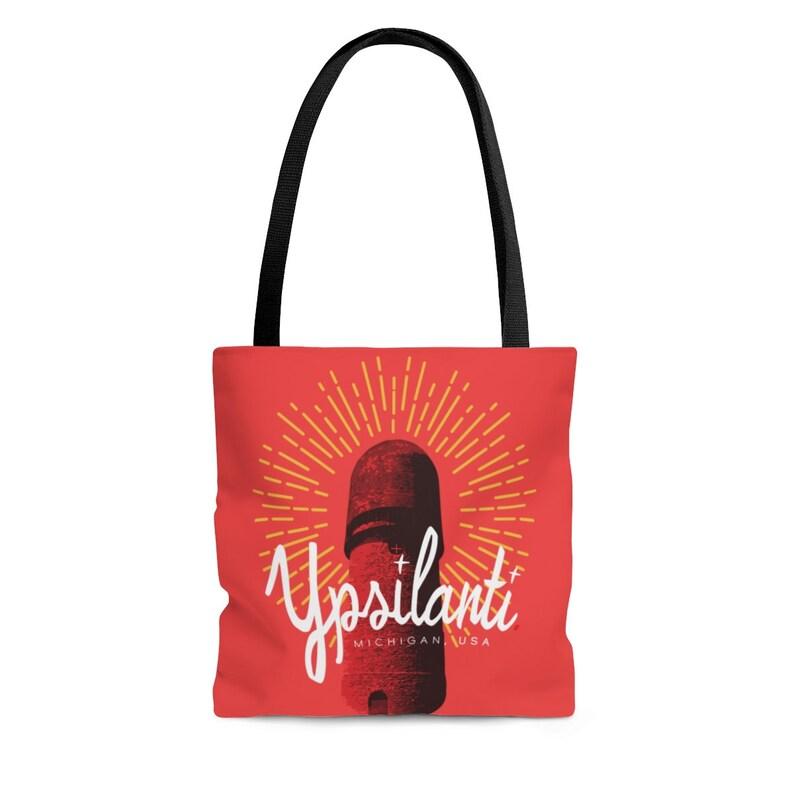 Ypsilanti Water Tower Red Tote Bag