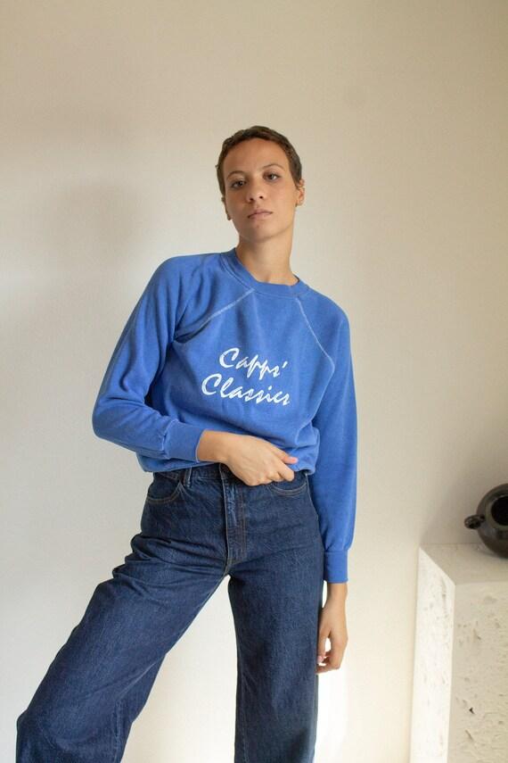 """Vintage royal blue cotton """"Capps Classics"""" sweatsh"""