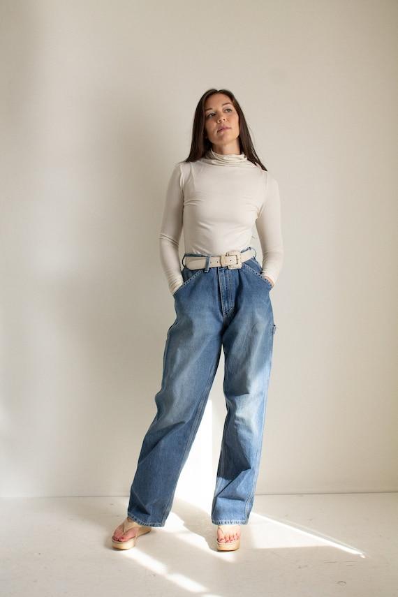 Vintage 90s medium wash carpenter jeans // XL (136