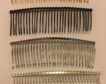 Large 30 Teeth, 4.5 Inches Wide, High Quality Silver Tone Wire Comb, Hair Comb, Metal Comb, 1 piece