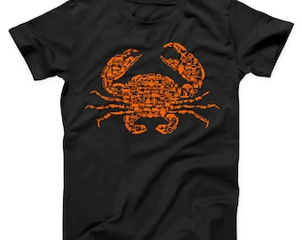 9305b1d0a Crab Unisex T-shirt, Crab Shirt, Crab T-shirt, Crab Tee, Crab Women and Men  Shirt, Funny Shirt