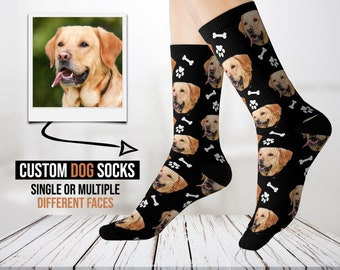Funny Doge Face Fashion Unique Christmas Stockings Personalized Gift Socks Christmas Socks for Parties Socks