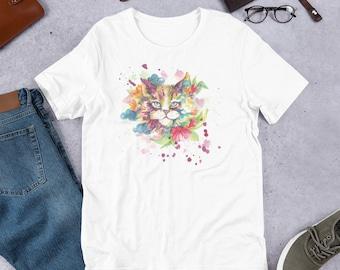 577faf67 Fluffy Cat Unisex T-shirt, Cat Funny Creative Shirt, Funny T-Shirt, Women  and Men T-shirt, Mom Shirt, Gift T-shirt, T-shirt, Cat Lovers Tee