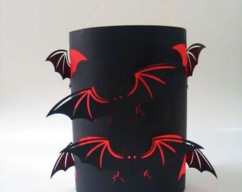 Craft set lantern bat, St. Martin's lantern, Halloween lantern, lantern crafts for lantern parade