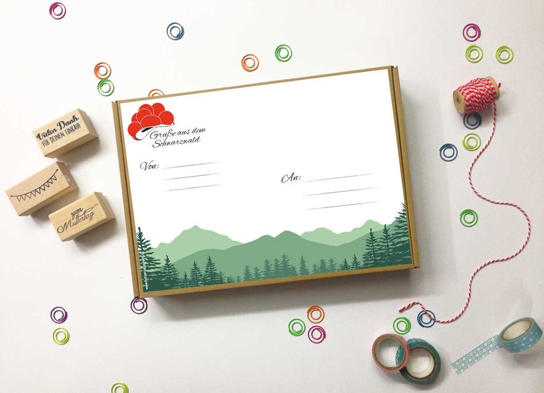 5 Package Sticker Black Forest din A4