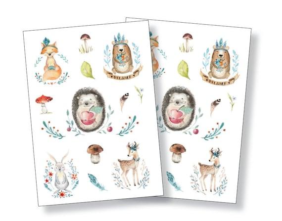 Sticker Fuchs Eichh/örnchen Planersticker Niedliche Waldtiere Sticker Set Niedliche Aufkleber Journal Sticker Sticker Tiere