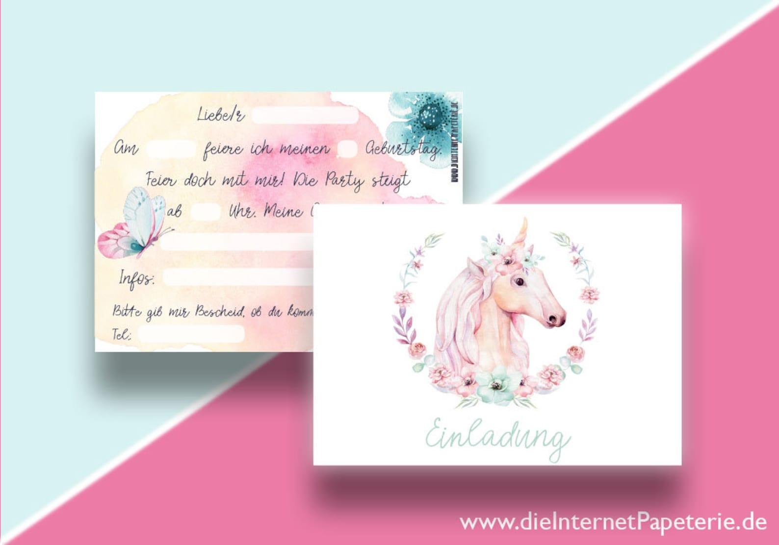 Unicorn Invitations Page Five