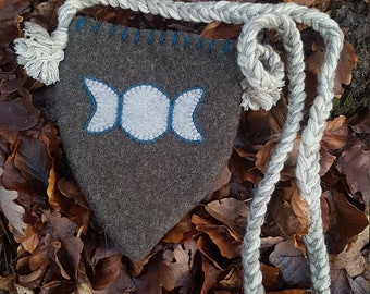 small Wiccan moon bag