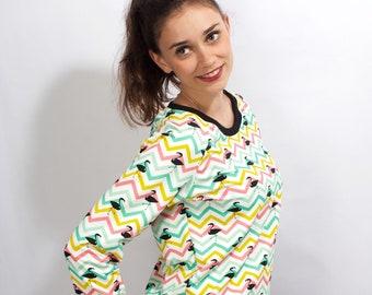 Pulli Raglan Flamingo* Sweatpulli Summer Sweater