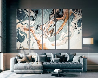 Abstract Artwork Print Contemporary Art Modern Wall Set Housewarming Gift Idea Entryway Decor For Home Office