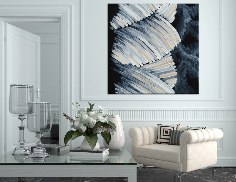 Sensational Pastel Colors Canvas Print Abstract Wall Art Black And White Artwork Modern Wall Decor Extra Large Wall Art Contemporary Fine Art Home Interior And Landscaping Staixmapetitesourisinfo
