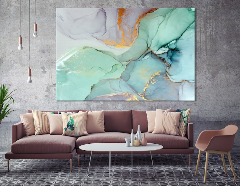 Modern Wall Art Abstract Bedroom Print Office Painting Large Wall Art Large Abstract Canvas Home Decor Print Ink Painting Art