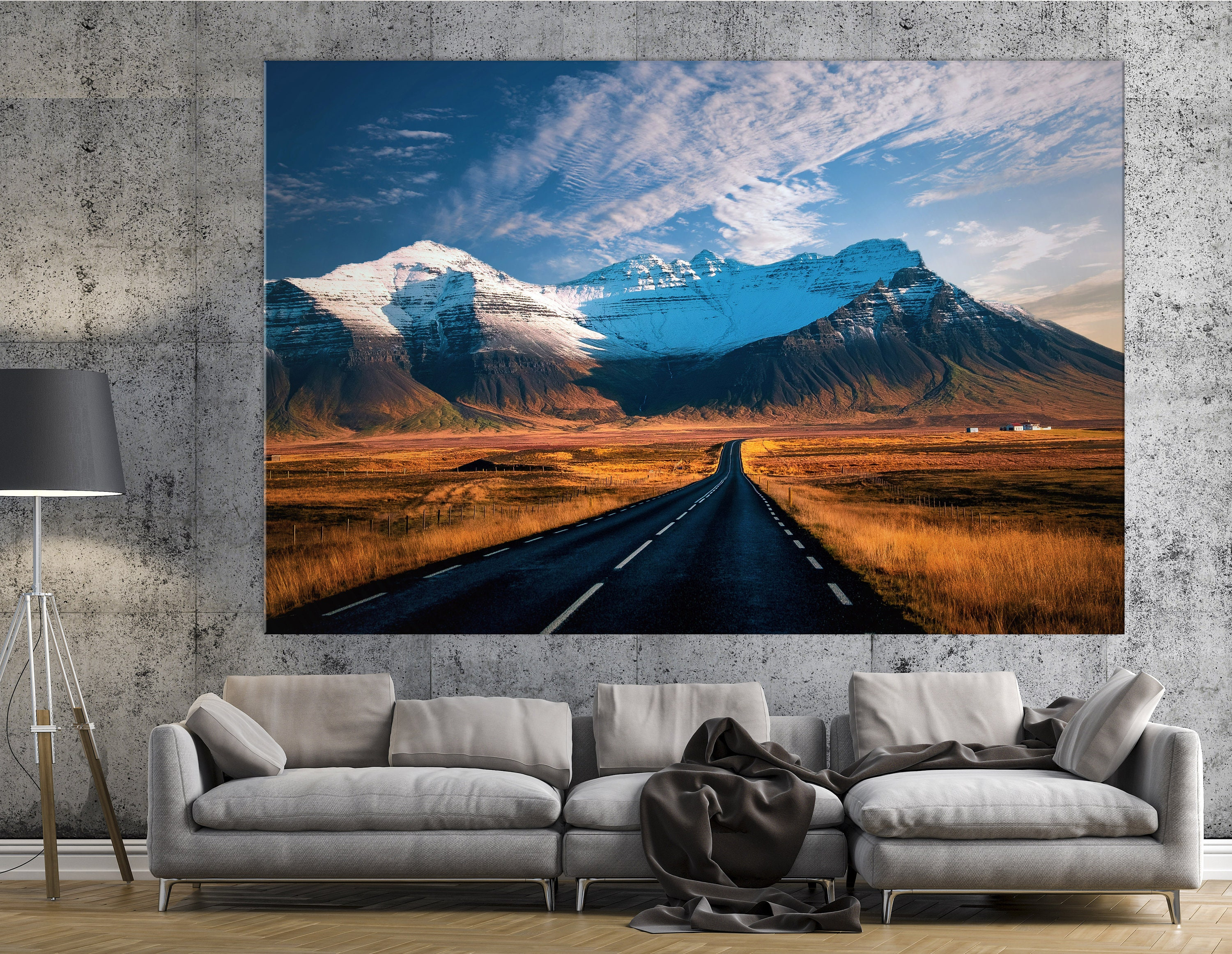 Beautiful Mountains Canvas Print Ready To Hang Wall Art Large Wall Art Office Wall Art Mountains Wall Art Wall Mural Canvas Art