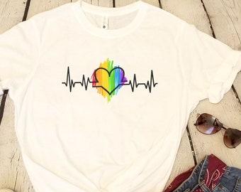 6c01791d0 GAY PRIDE Heartbeat Unisex Graphic Shirt