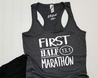 c6c1935f0c283 First Half Marathon 13.1 Racerback Tank Top   Running Shirt   Marathoner    Runner