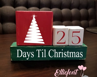 How Many Minutes Till Christmas.Days Till Christmas Etsy