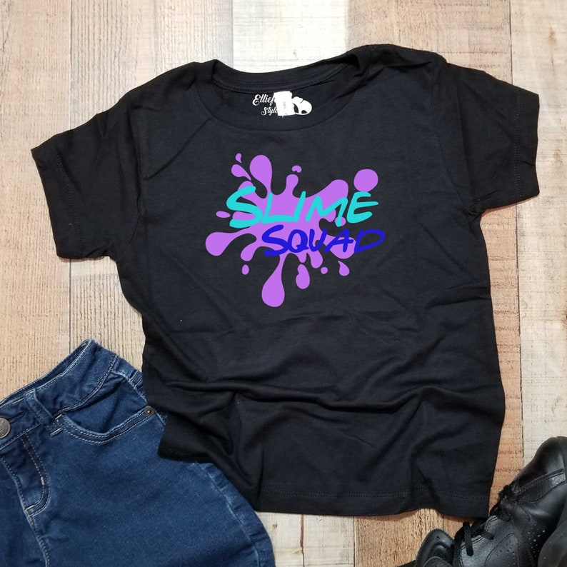 Slime Party Squad Shirts Kids Birthday