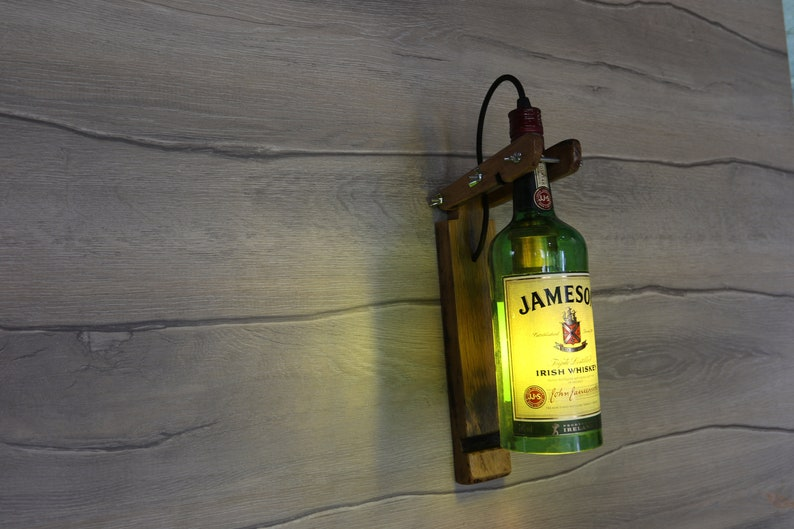 Jameson Wall lamp Jameson whiskey bottle Lamp Kitchen décor USi5dlTY