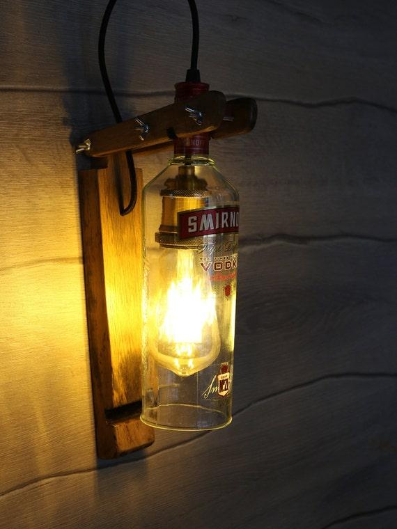 Smirnoff Wall lamp Smirnoff Vodka bottle Lamp Kitchen decor Lamp Bar decor  light Liquor Bottle lamp Alcohol Bottle lamp Bedroom Lamp