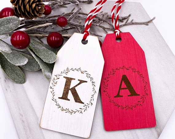 Personalized Stocking Tags, Wooden Name Tags, Gift Tag, Place Setting Tag, Holiday Gift Tags, Wood Gift Tags, Customized Wood Tags