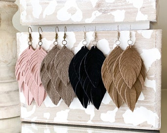 fringed leather pendant leather pieces genuine suede leather earrings with fringes fringed leather supplie fringes suede earrings